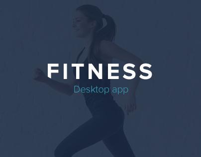 Fitness app - A simple & clean desktop interface