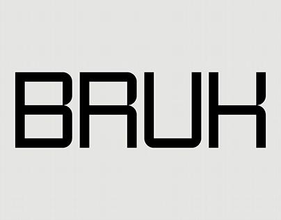 BRUK - Typeface