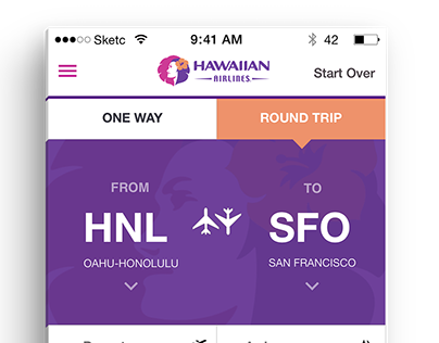 Hawaiian Airlines Flight Booking Redesign Concept
