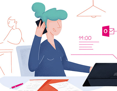 Telekom Illustrated Newsletter // Illustrations