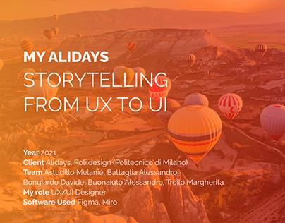 My Alidays app - UX/UI design