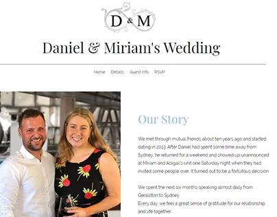 2019: Wedding Website