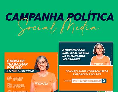 Angela Quintanilha - Campanha Política | Social Media