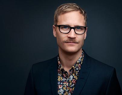 Porträtt av fotograf David Falk på Unique Talents.