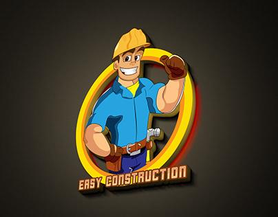 Easy Construction Mascot Logo