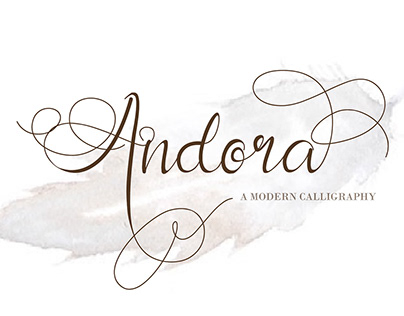Free Andora Calligraphy Font