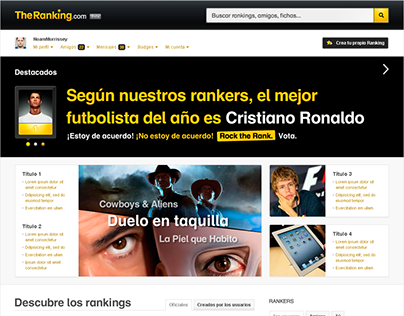 TheRanking.com web design
