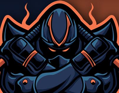 Ninja Warrior mascot esport logo design