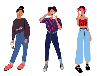 Aesthetic vibes- character design