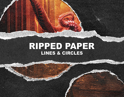 RIPPED PAPER LINES & CIRCLES texture pack