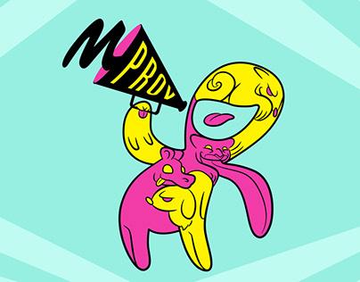 Mprov 2016 festival branding