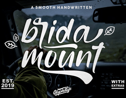 Bridamount – a Smooth Handwritten font+extras