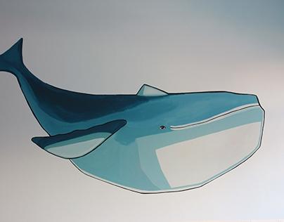Blue whale // mural