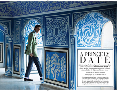 Cover Shoot with Prince Padmanabh Singh of Jaipur