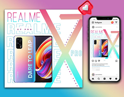 Realme Mobile Ad Design