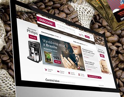 Coffee shop webdesign