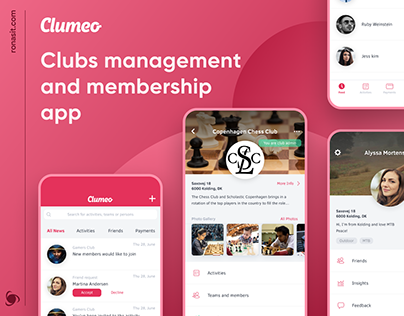 Clubs Management and Membership App | UI/UX