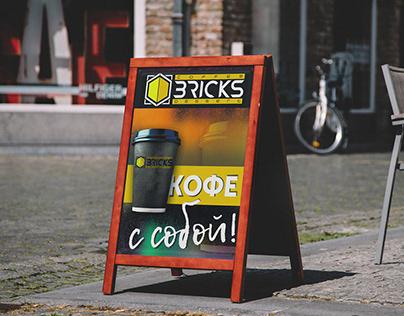 Штендер для кофейни BRICKS