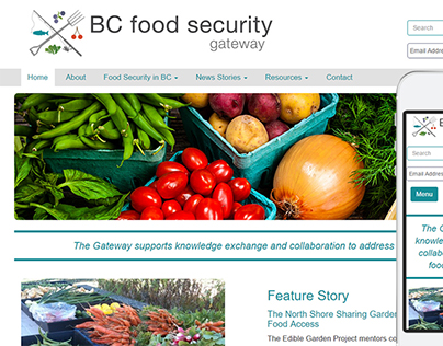 Website and Logo Design for BCfoodsecuritygateway.ca