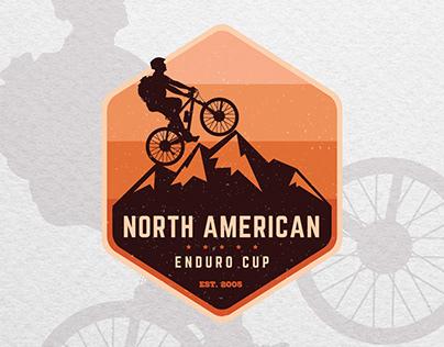 Vintage badge logo design for a mountain bike club
