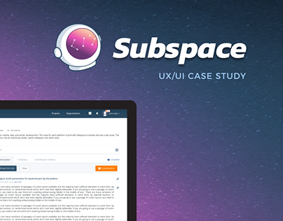 UX/UI Case Study: Subspace