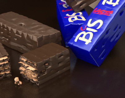 Chocolate Bar rendered with Arnold for Maya