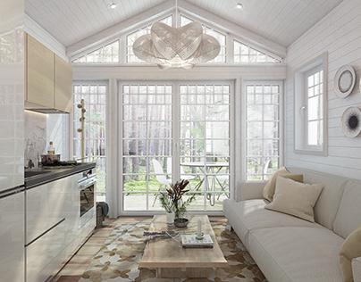 Swedish temporary house\1. Interior design