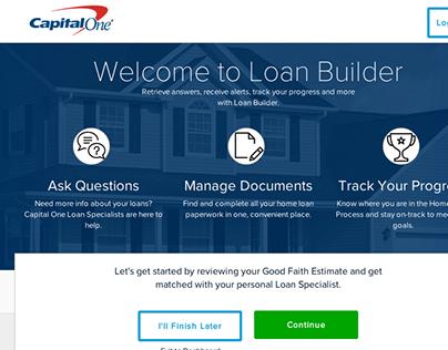 Capital One LoanBuilder Responsive, AngularJS Front End