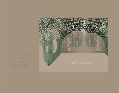 "Clip-art ""The Summer Garden""/paper splitting"