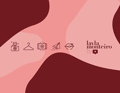 Identidade Visual para LAYLA MONTEIRO   YouTube Channel