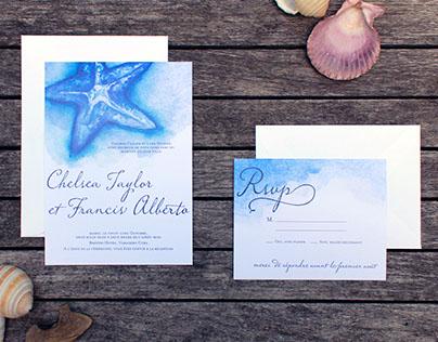 Chelsea & Francis: Wedding Invitations