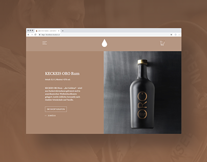 Distillery Keckeis - Website/UI