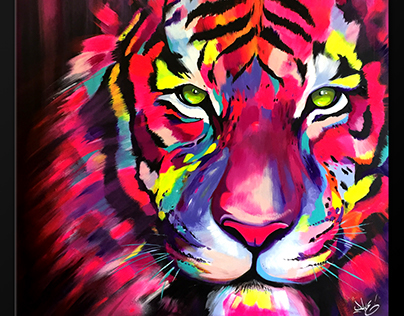 Tiger painting colorfull