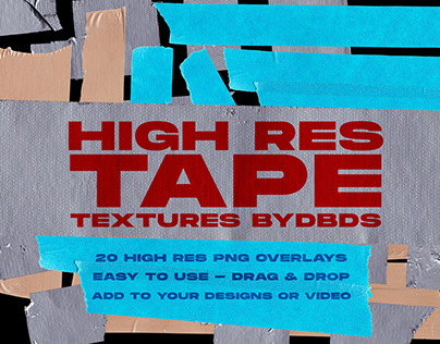 High Res Tape Texture Pack — byDBDS®