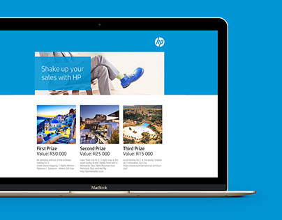 HP Shake it up Page - UI UX Design