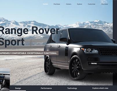 Range Rover Sport Website