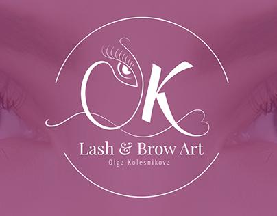 OK Lash & Brow Art logo
