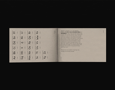 Monitor Pro Typeface – Booklet