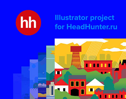 Illustrator project for HH.ru