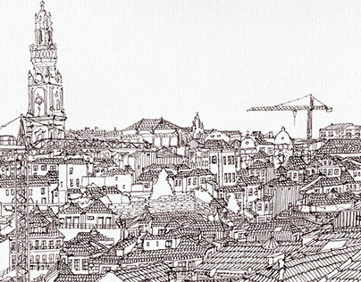 Porto city Panoramic view - From Terreiro da Sé