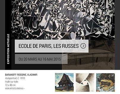 Galerie Le Minotaure Website