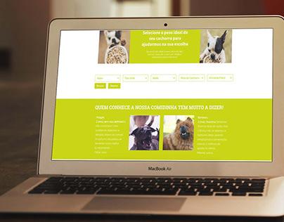 loja virtual de alimentação saudável para animais