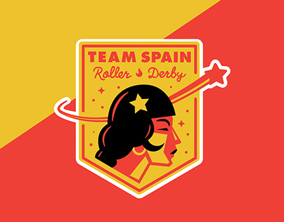 Team Spain Roller Derby Logo