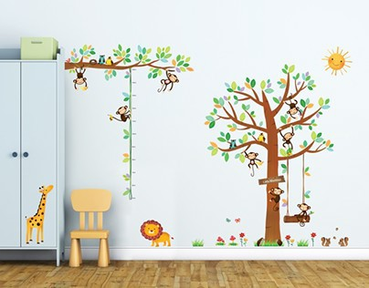 8 Little Monkeys Tree and Height Chart