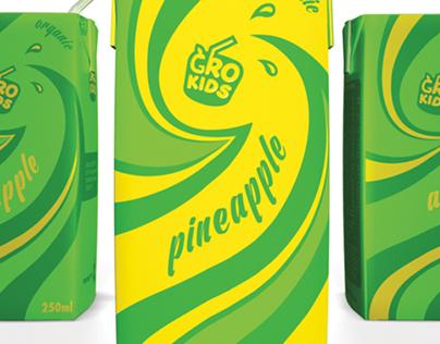 GroKids branding and packaging