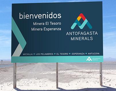Instalación de marca: Antofagasta Minerals