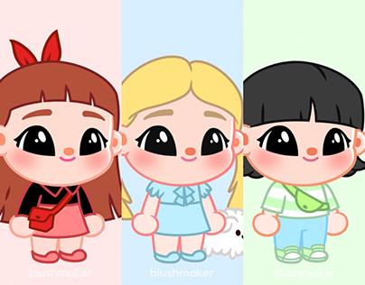 Blushpied Powerpuff Girls