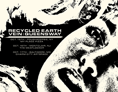 Tour Flyer: Recycled Earth/Vein/Queensway