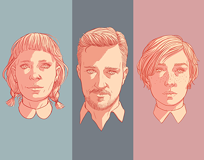 Portrait Illustrations: Cult Wife Website