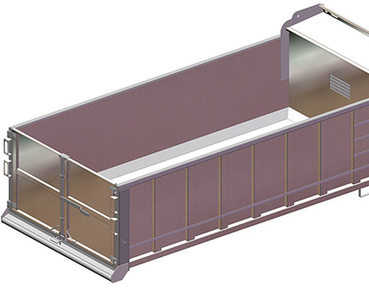Sheet Metal Design - Large Scale Steel Container